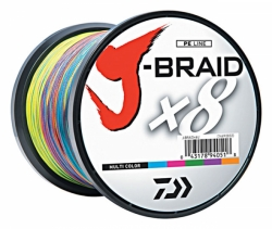 Daiwa J-Braid X8 Multi Color 1500m - 0,42mm-80lb-46kg