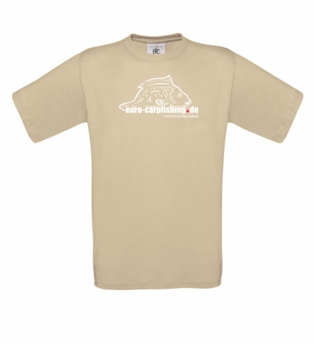 T-Shirt mit Logo Euro-Carpfishing C&R sand
